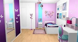 idee pour chambre de fille dar deco decoration With chambre violet et rose