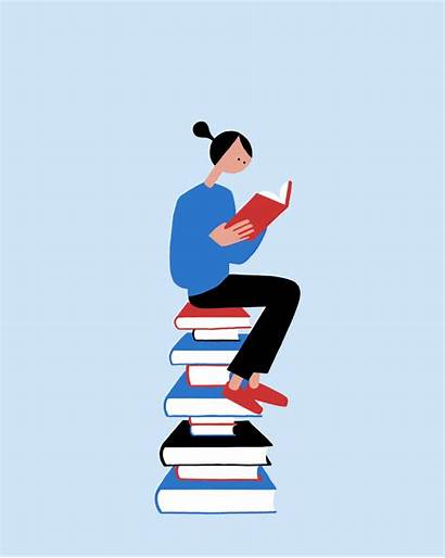 Books Weekend Animated Read Happy Gifs Nice