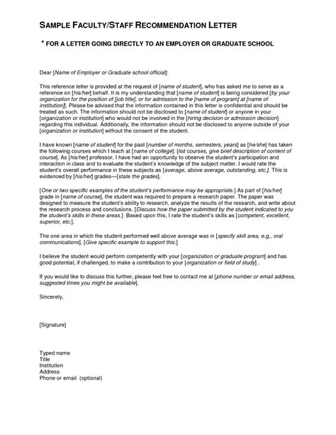 sample recommendation letter  student gplusnick