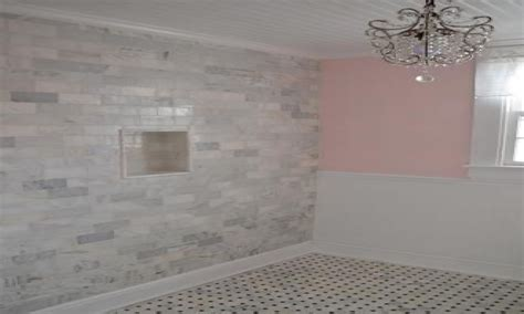 homedepot bathrooms carrara marble subway tile backsplash
