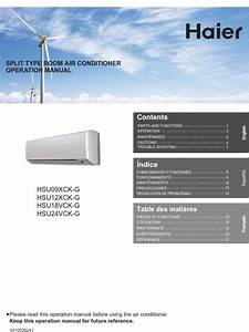 Haier Air Conditioners Owners Manual
