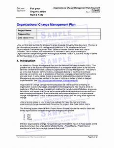 organizational change management plan document template With document management strategy template