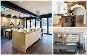 Mur briques exposees dans la cuisine une tres belle idee deco for Idee deco cuisine avec cuisine promo