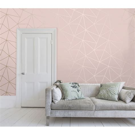 sle zara shimmer metallic wallpaper pink gold ilw980111 sample