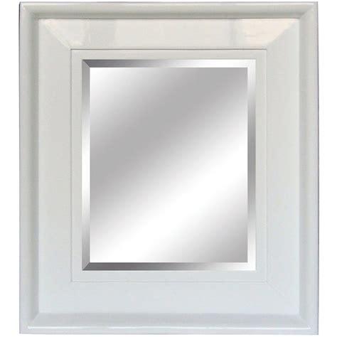 White Framed Mirror For Bathroom by Yosemite Home Decor 26 In X 30 In White Rectangular Framed