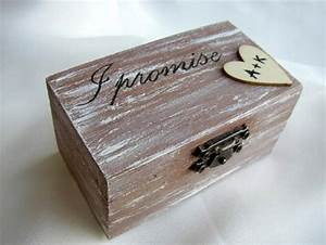 Rustic ring bearer wedding box pillow alternative for Wedding ring holder box