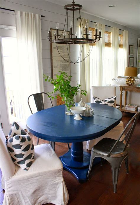 25  best ideas about Blue dining tables on Pinterest   Diy dining room paint, Dinning room