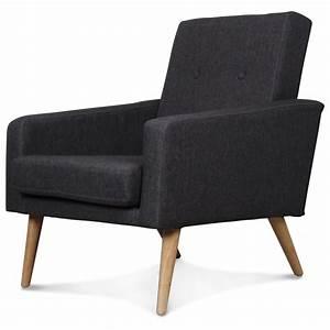 Fauteuil Design Scandinave : fauteuil design scandinave moderne gris anthracite fitz ~ Melissatoandfro.com Idées de Décoration