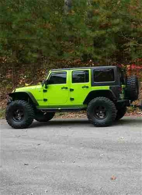 lifted jeep green sell used 2012 lifted gecko green jeep wrangler unlimited