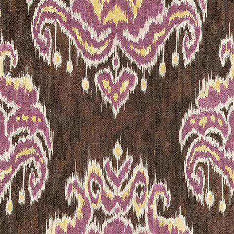 marrakesh ikat purple fabric by the yard ballard designs