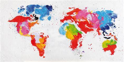 Acheter Carte Du Monde Originale by Tableau Toile Peinture Carte Du Monde Dipinto Bois Deco