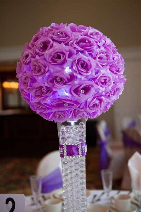 elegant purple wedding centerpieces  decorations