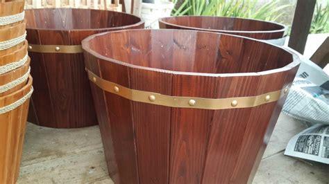 pot bunga  kayu pot kayu besar bahan jati belanda
