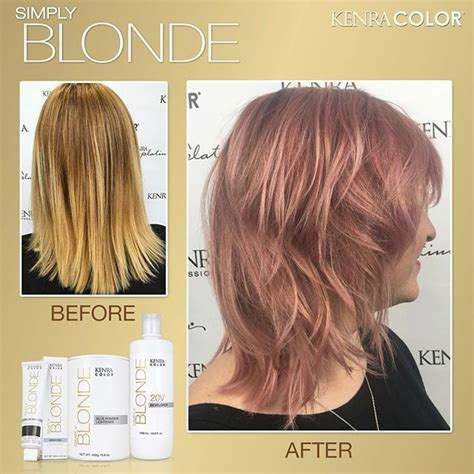 kenra hair gold rose sheer tone line 5vr root ashley coloring professional instagram