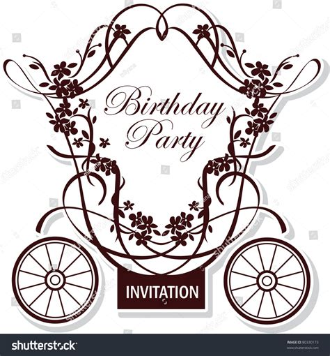 Birthday Or Wedding Invitation Design With Fairytale