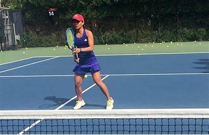 Tennis Volley Play Playing Beginner Swing Beginners