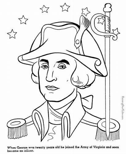 George Washington Coloring Printable General Sheet Columbus
