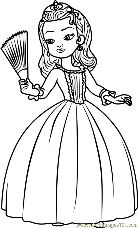 princess amber coloring page  sofia   coloring pages coloringpagescom