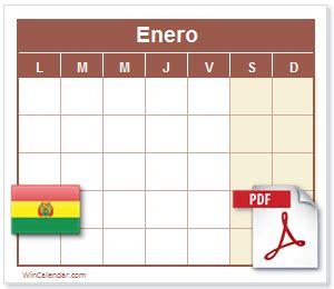 calendario dias feriados bolivia