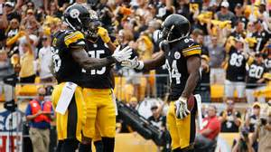 congratulations to steelers antonio brown behind the steel curtain