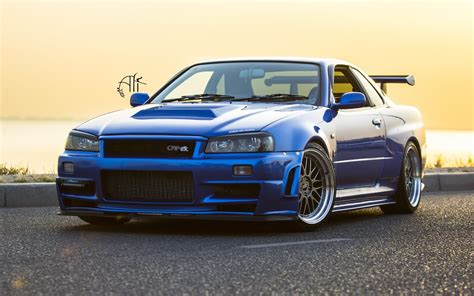 nissan skyline nissan skyline gt r r34 car wheels tuning wallpaper