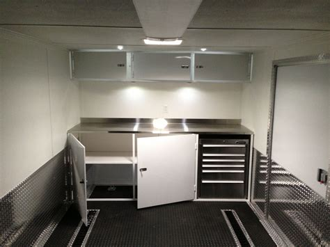 Race Trailer Cabinets by Custom And Lower Race Cabinets Work Enclosed