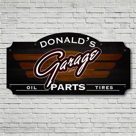 Custom Garage Sign by Premium Parts Custom Garage Sign