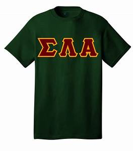 sigma lambda alpha letter shirt With sigma chi letter shirt