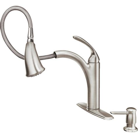 Moen Pull Out Kitchen Faucet by Moen Kinzel Pull Out Kitchen Faucet Essential Hardware