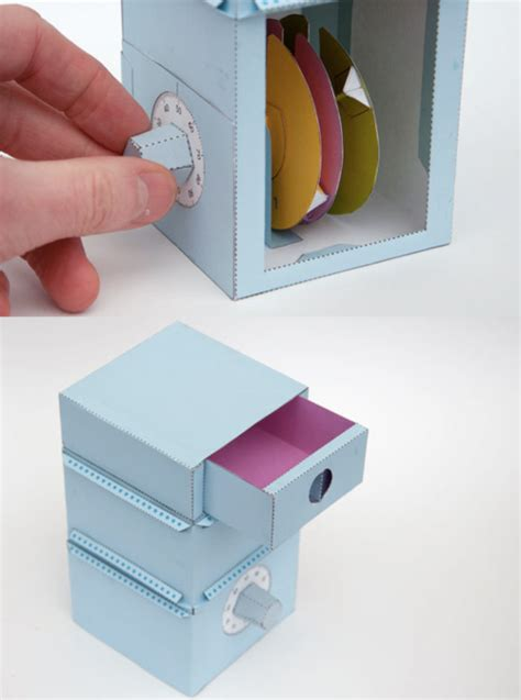 diy fully functioning paper safe  combination lock