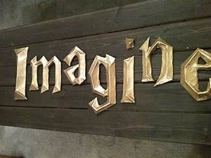 1000 images about wizarding world on pinterest With 3d wall letters