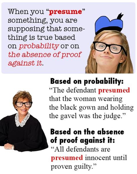 Presume Vs Assume by Presume Sat Act Test Prep