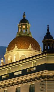 The City Of Pasadena Town Hall Dome Stock Photo - Image of ...