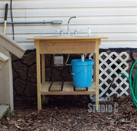 outdoor kitchen sink drain install an outdoor sink faucet