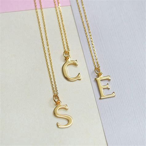 personalised gold initial necklace by mia belle ...