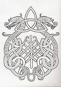 Dessin Symbole Viking : dragon by fiery crossroad 750 1066 patterns celtic pinterest celta ~ Nature-et-papiers.com Idées de Décoration