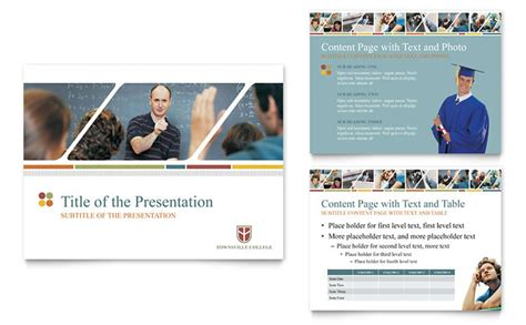 college university powerpoint  template design