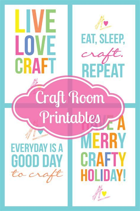 Craftaholics Anonymous®   Colorful Free Craft Room Printables