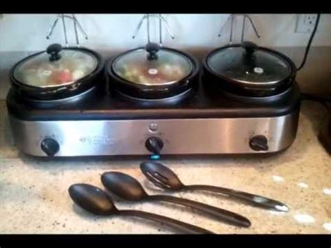 ge  crock slow cooker buffet review youtube