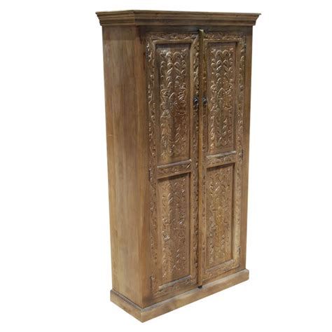 Storage Armoire With Shelves by Intaglio Carved Doors Solid Wood Storage Cabinet