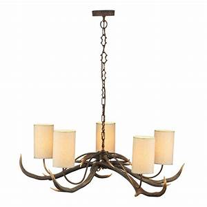 Rustic chandelier antler ceiling light with naturalistic