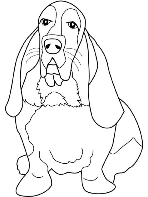 Beagle Kleurplaat by Dogs Coloring Pages Basset Hound Coloring Book Dogs