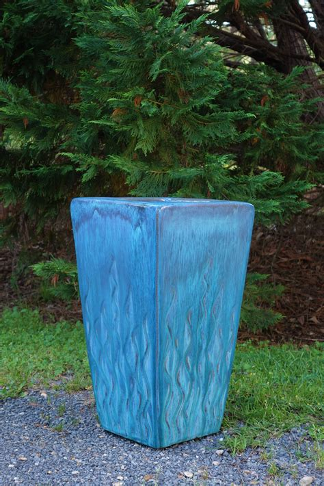 lakeland lawn and garden beautiful blue planter from lakeland yard and garden center