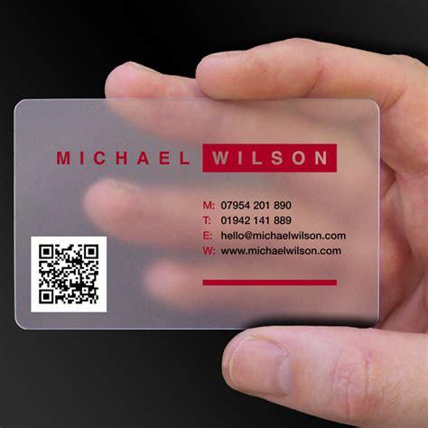 transparent business cards translucent plastic cards