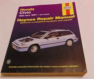 Haynes Repair Manual Honda Civic 1984