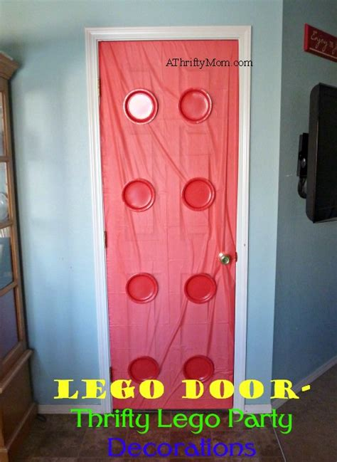 lego door thrifty lego party decorations legoparty lego