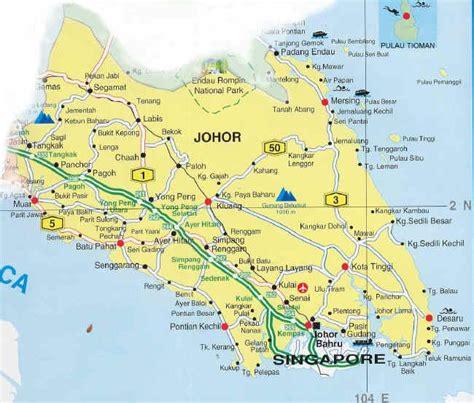 johor bahru map  johor bahru satellite image