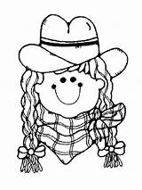 Cowgirl Coloring Pages Printable Barbie Recommended Template sketch template