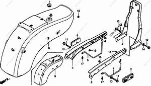 Honda Motorcycle 1993 Oem Parts Diagram For Rear Fender