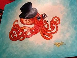 Octopus Acrylic Painting